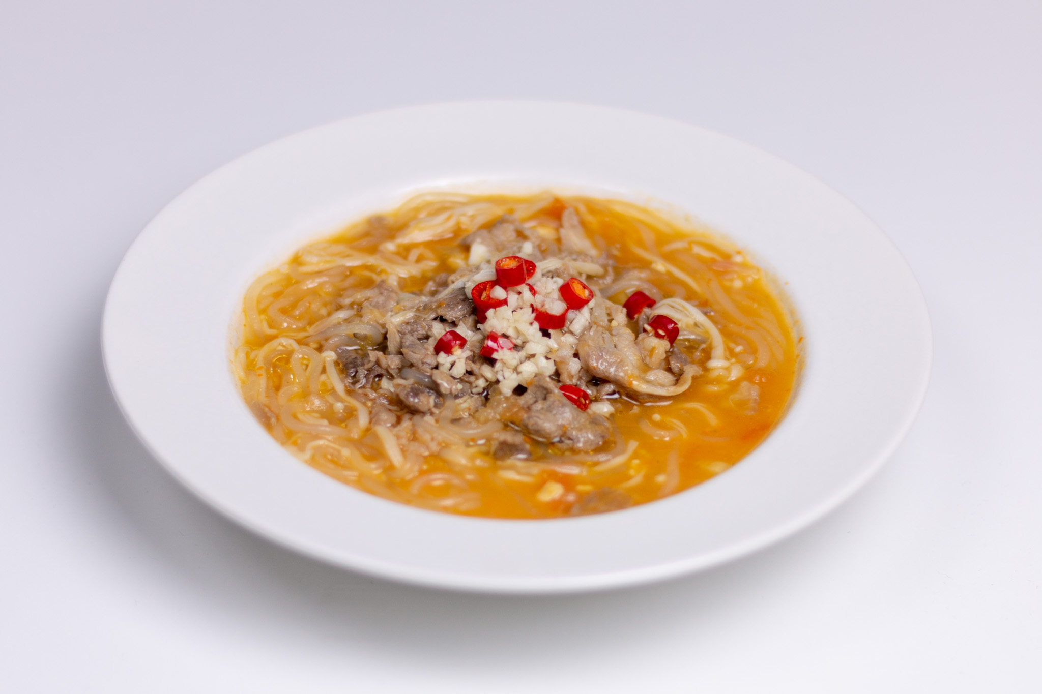 Sliced Beef in Golden Soup